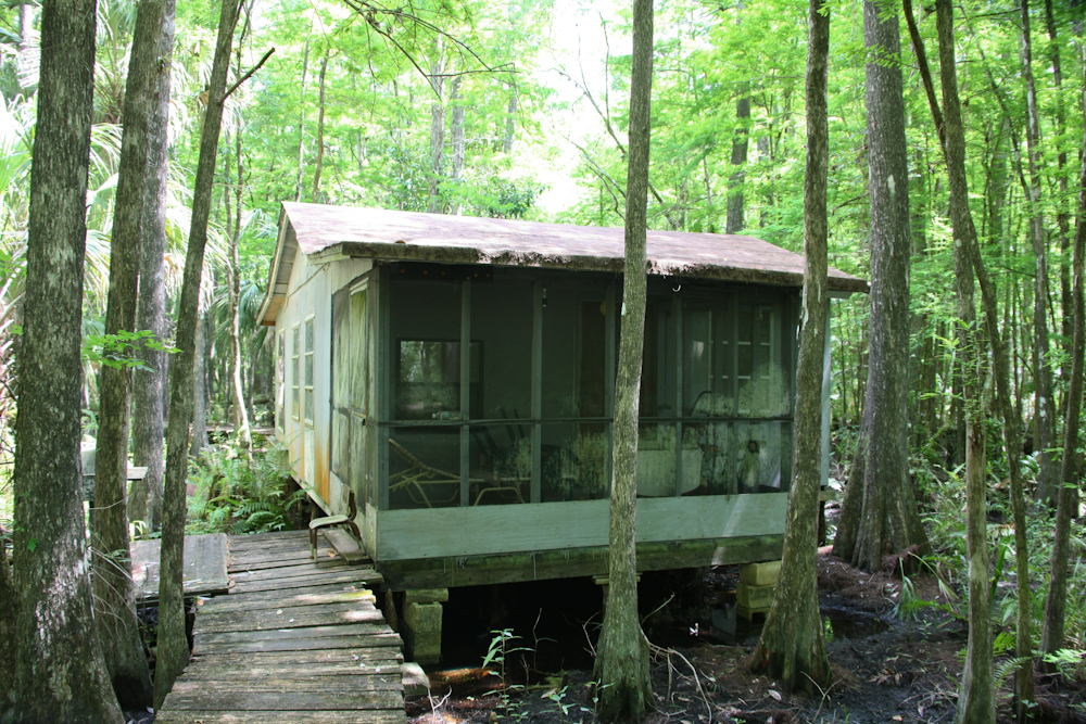 Camps that were still in use since the area is now apreserve hunting